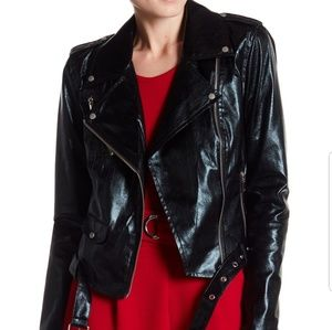 Romeo & Juliet Couture Faux Leather Jacket